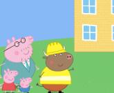 Игра Свинка Пеппа строит дом