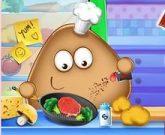 Игра Поу готовит еду