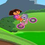 Игра Даша катит на велосипеде