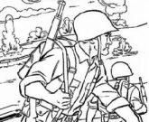 Игра Раскраска война