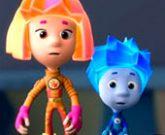 Игра Фиксики: пазл с Ноликами и Симкой