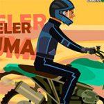 Игра Мотоцикл в пробке